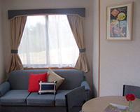Interior: cabin accommodation in Gundagai
